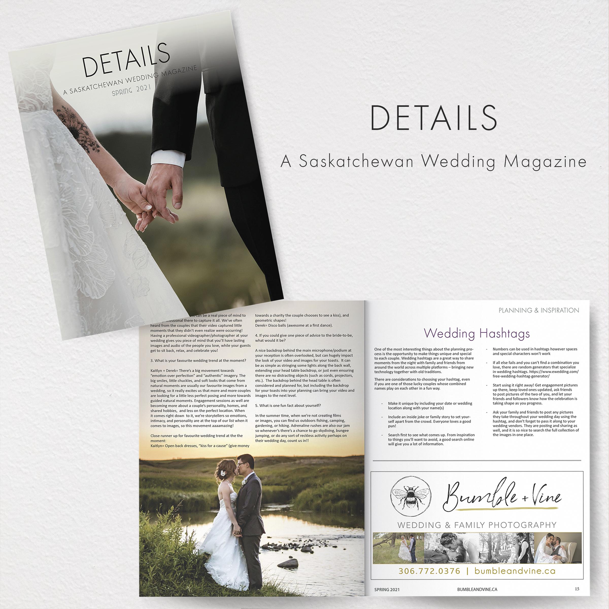 Details Saskatchewan Wedding Magazine