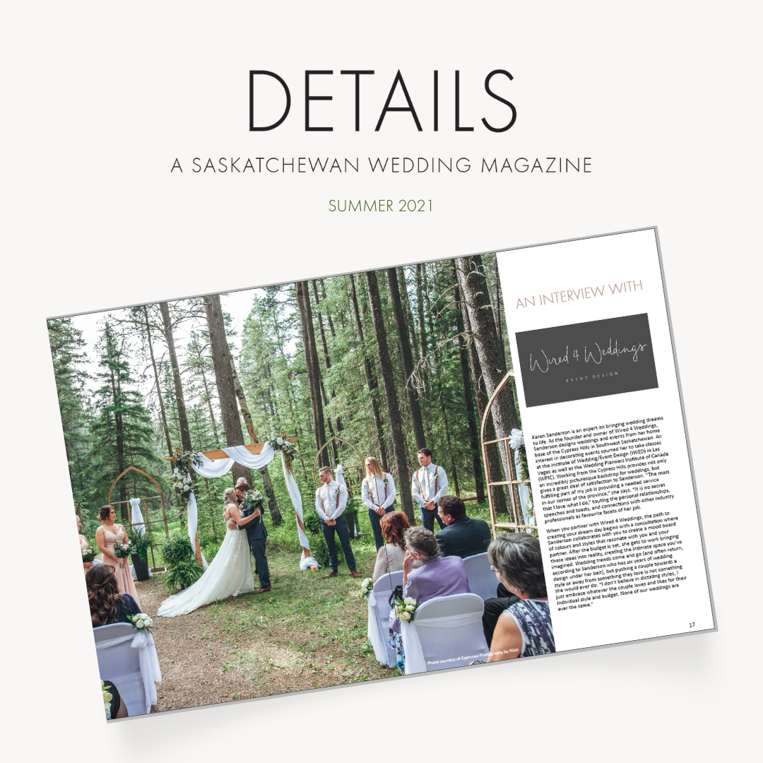 Details Saskatchewan Wedding Magazine